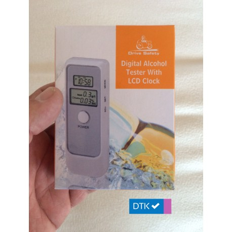 Breathalyser Alcohol Tester - Dual LCD Display