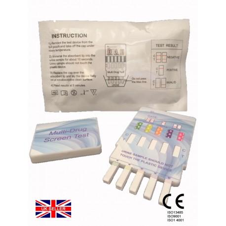 1x 10 in 1 Urine drug testing kits